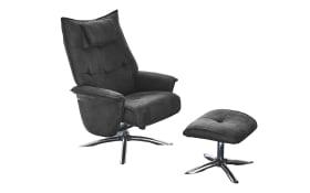 Relax-Chair inklusive Hocker Manzano in dunkelgrau