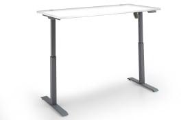 Schreibtisch-Set 7005 in weiß, höhenverstellbar