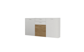 Sideboard Arabella in weiß/Wildeiche