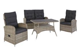 Garten-Lounge-Set Monaco in stone grey