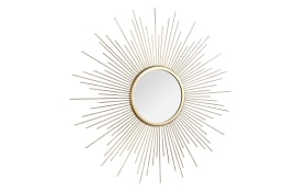 Metallspiegel Sunny in Goldoptik, 60 cm