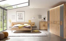 Schlafzimmer Mira in Wildeiche massiv/schiefergrau
