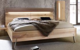 Komfortbett Cubo in Wildesche massiv/taupe