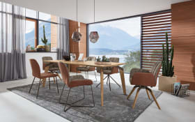 Stuhlgruppe Nando aus Asteiche/marron