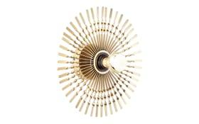 Wand-/Deckenleuchte Mendoza in goldfarbig