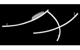 LED-Deckenleuchte Mons in silberfarbig
