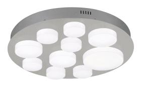 LED-Deckenleuchte Vesmonde in Nickel matt