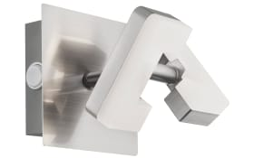 LED-Wandleuchte Zara in nickel matt, 1-flammig