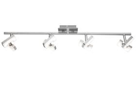 LED-Strahlerleiste Zara in nickel matt