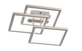 LED-Deckenleuchte Viso in nickel matt, 57,5 x 57,5 cm