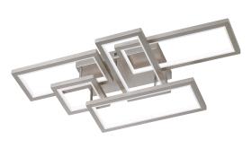 LED-Deckenleuchte Viso in nickel matt.
