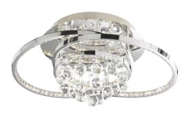 LED-Deckenleuchte Medley in chromfarbig, 56,5 cm