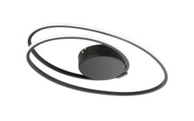 LED-Deckenleuchte Nia in schwarz, 50 cm