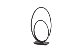 LED-Tischleuchte Nia in schwarz, 42 cm