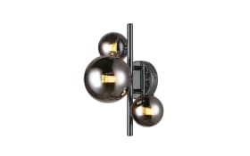 LED-Wandleuchte Villa in schwarz/chromfarbig, 18,9 cm