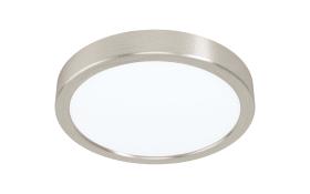 LED-Deckenleuchte Fueva 5 in nickel-matt