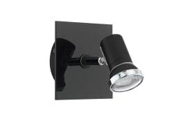 LED-Wandleuchte Tamara 1 in schwarz/chrom
