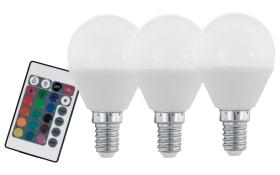 LED-Leuchtmittel 4W / E14 RGBW, 3er-Set