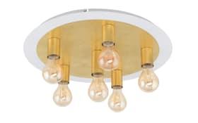 LED-Deckenleuchte Passano in goldfarbig