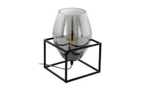 Tischleuchte Olival 1 in schwarz transparent