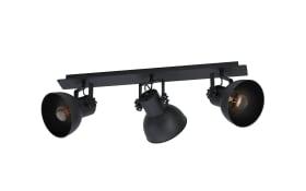 Deckenleuchte Barnstaple in schwarz, 75 cm