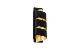 Wandleuchte Elizondo in schwarz/goldfarbig