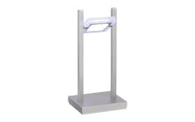 LED-Tischleuchte Q-Vidal in stahlfarbig, 33 cm