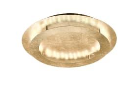 LED-Deckenleuchte Nevis in Blattgold-Optik, 50 cm