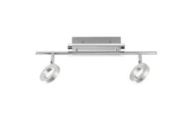 LED-Deckenleuchte Sileda in aluminium matt, 2-flammig