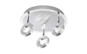 LED-Deckenleuchte Sileda in aluminiumfarbig, 3-flammig