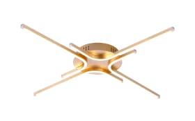 LED-Deckenleuchte Gregor in goldfarbig