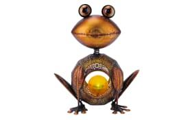 LED-Solarlicht Frosch in kupferfarbig, 38 cm