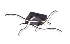 LED-Deckenleuchte Wave in schwarz, 55 cm