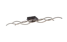 LED-Deckenleuchte Wave in schwarz, 97 cm