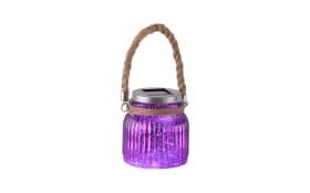 LED-Solarleuchte Solar in purpur/violet, 11,5 cm