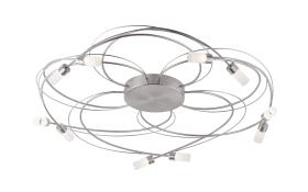 LED-Deckenleuchte Nelia in stahlfarbig, 80 cm