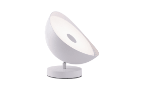 LED-Tischleuchte Q-Alexis in weiß, 25 cm