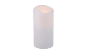Solar Kerze in weiß mit Flackereffekt, 20 cm