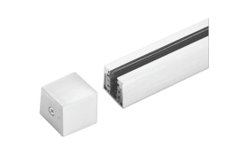 Stromschienen-Endkappe HV-Track4 24550 in nickel matt, 2,3 cm
