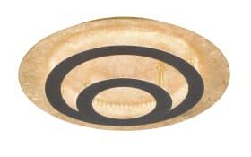 LED-Deckenleuchte Spacy in Blattgold-Optik, 40 cm