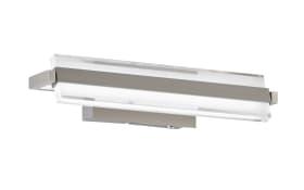 LED-Wandleuchte Paros in nickel matt, 35 cm