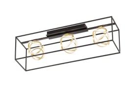 LED-Deckenleuchte Gesa in goldfarbig/schwarz