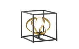 LED-Tischleuchte Gesa in goldfarbig/schwarz