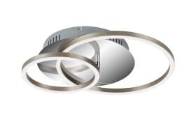LED-Deckenleuchte Frames in chromfarbig, 39 x 30 cm