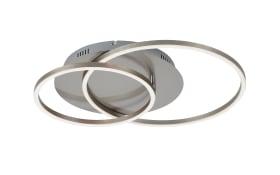 LED-Deckenleuchte Frames in nickel matt, 51,5 x 39,5 cm