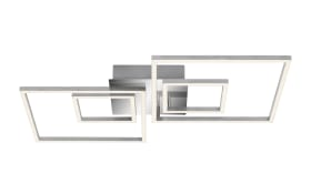 LED-Deckenleuchte Frames in chromfarbig, 65,5 x 52 cm