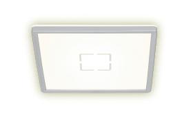 LED-Deckenleuchte Free in weiß/silber, 30 x 30 cm