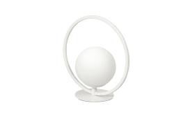 LED-Tischleuchte Sirio Circle in weiß