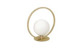 LED-Tischleuchte Sirio Circle in goldfarbig