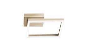 LED-Deckenleuchte Bard in gold matt, 15 x 15 cm